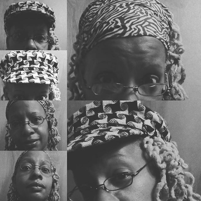 Hats and scarf in B/W