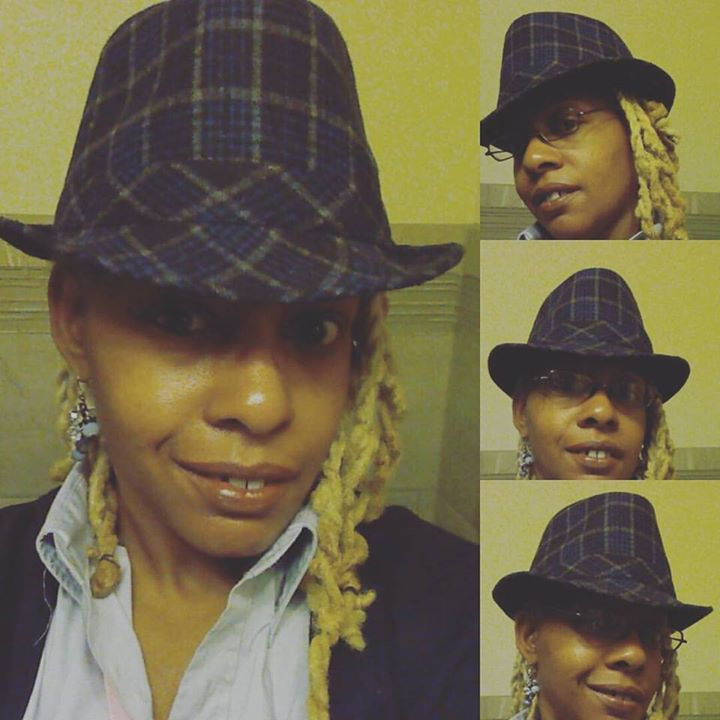 Blue and Grey Striped Fedora