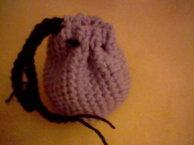 Purple Beanie Coin Pouch