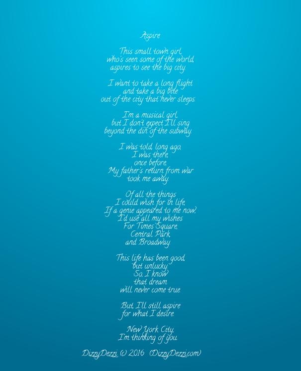 Aspire: A poem
