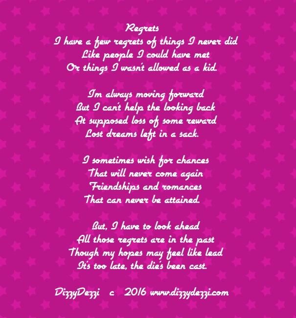 Regrets: A poem