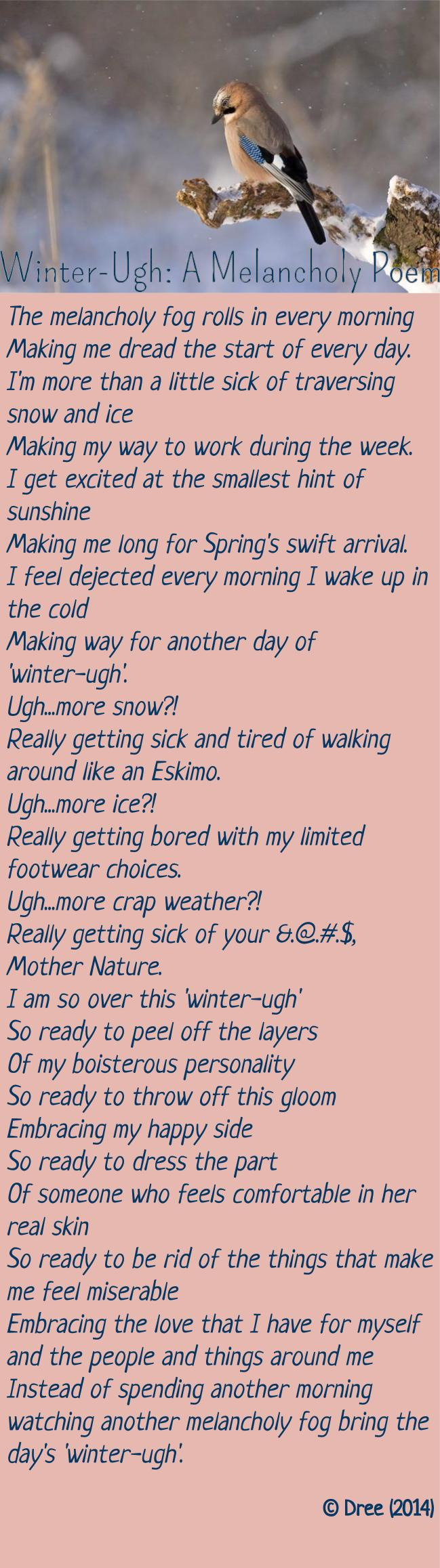 Winter-Ugh: A Melancholy Poem