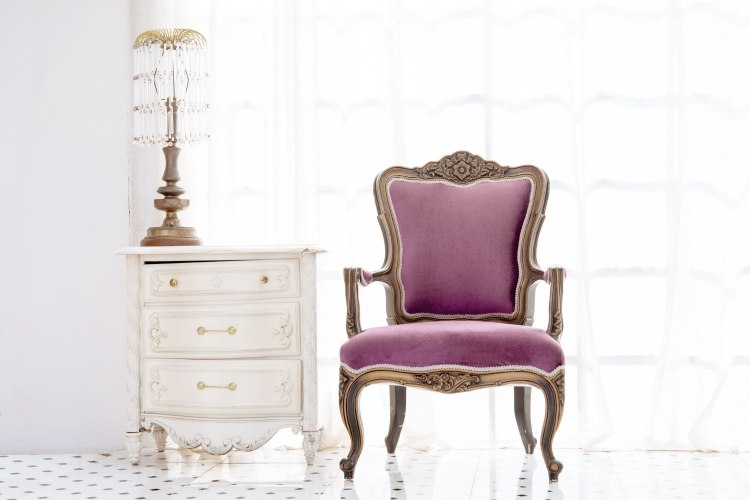 Antique Dresser & Chair: Shown for Representative Purposes Only