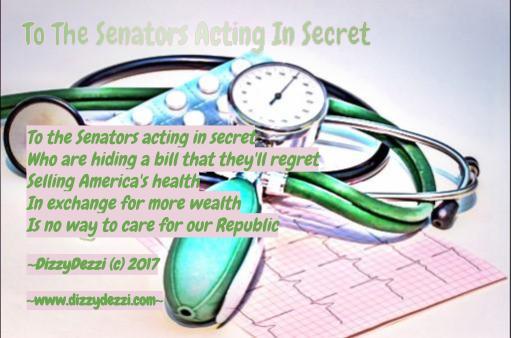To The Senators Acting In Secret
