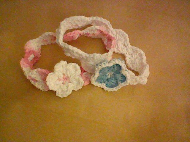 Crochet Headbands with 3D Flower