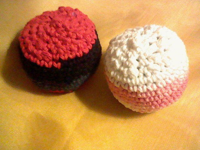 Crocheted Hacky Sacks