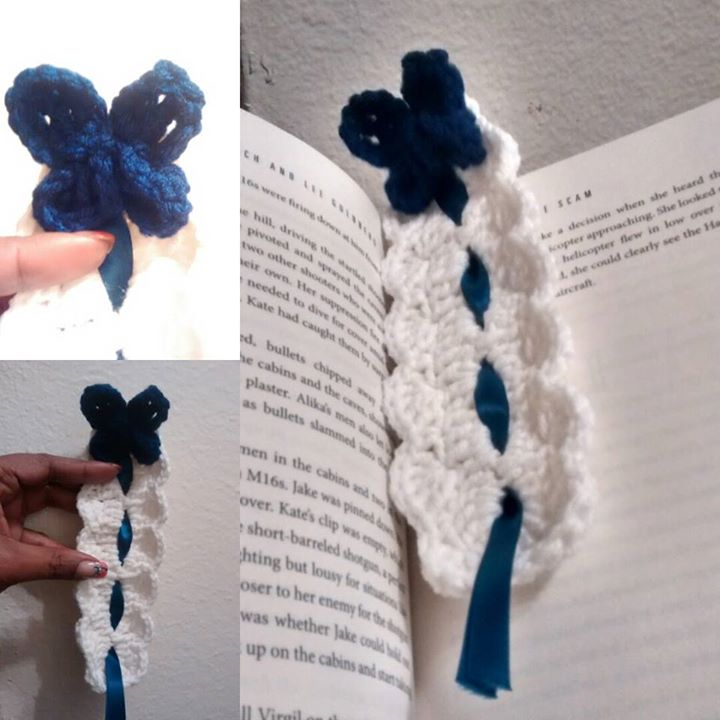 Wide Butterfly Ribbon Bookmark